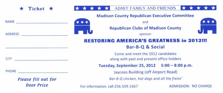 FREE Madison County GOP BBQ